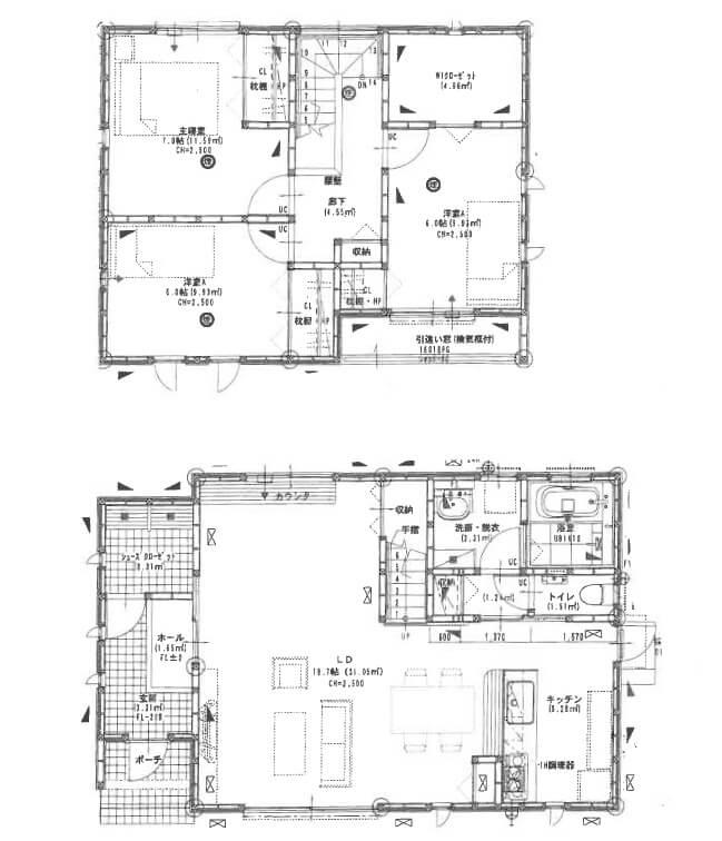 間取り図(津市半田の中古住宅)